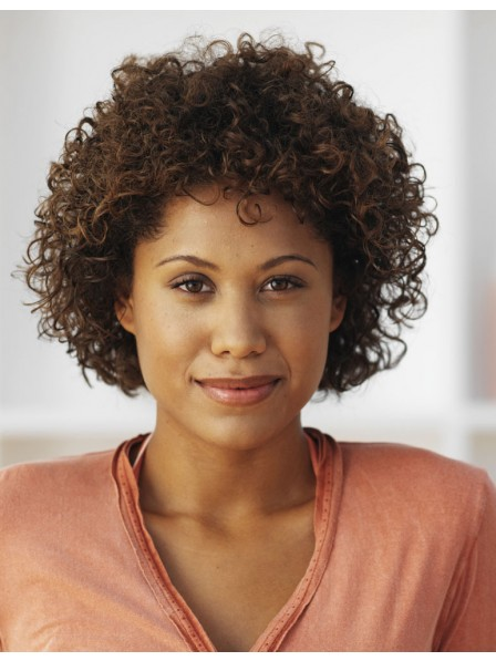 Capless women's afro hair  wigs simple