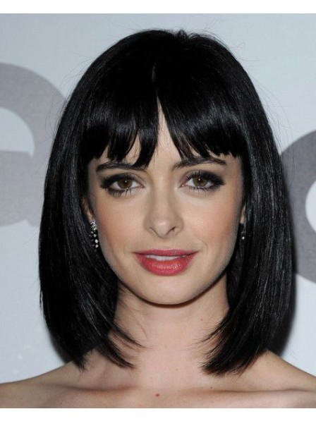 Celebrity Natural Black Synthetic Hair Bob Style Wig
