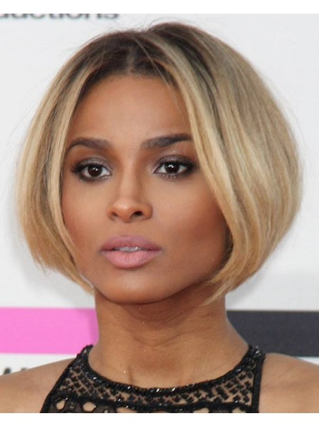 Celebrity Short Blonde Bob Wigs With Lace Front