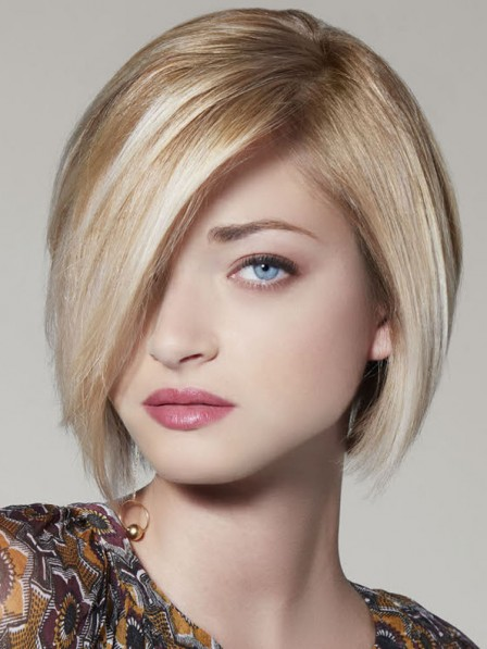 Chin Length Lace Front Synthetic Celebrity Bob Wigs
