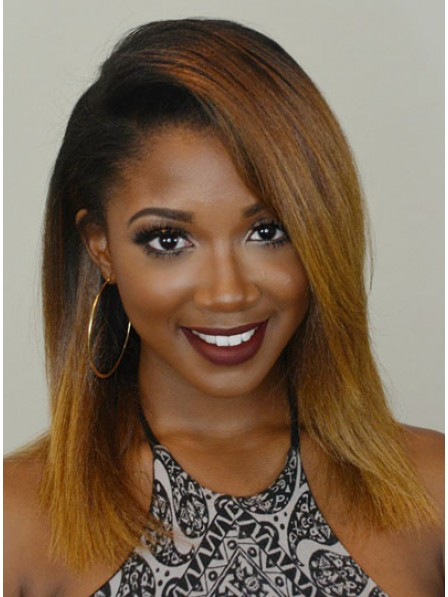 Classic Medium length Haircut Wig for Black Women