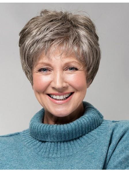 549f04d0635997 Cute Old Ladies Synthetic Grey Hair Wig - Rewigs.co.uk