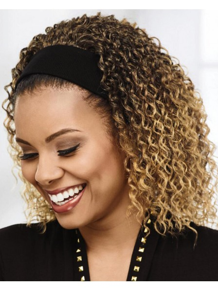 Easy Slip-On Headband Hair Piece Gives Instant Layers Of Carefree Curls