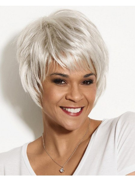 Edgy Trendy Pixie Wig With Feathery Piecey Razor-Cut Layers