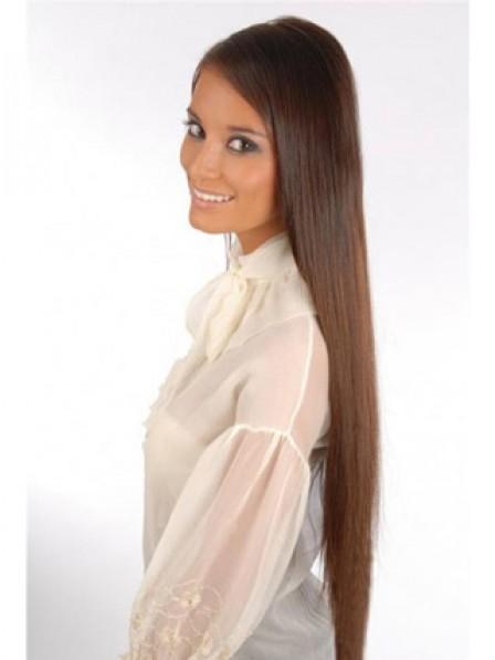 """22"""" Straight Auburn 100% Human Hair Clip In Hair Extensions"""