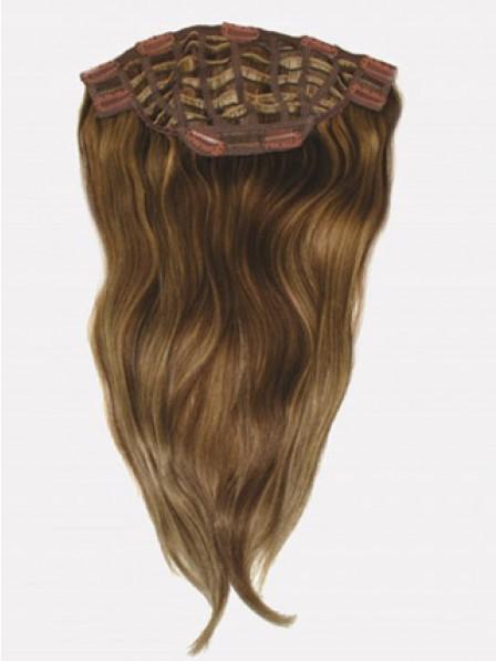 "18"" Straight Auburn 100% Human Hair Top Hair Pieces"