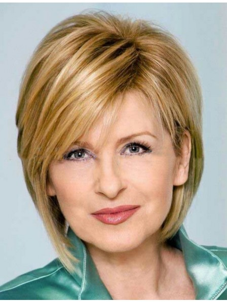 Effortless Chic Short Blonde Human Hair Wig