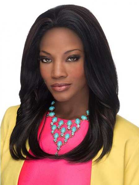 Elegant soft Straight human hair wigs with flip end