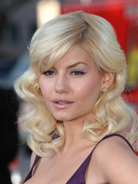 Elisha Cuthbert New Full Lace Synthetic Celebrity Wigs