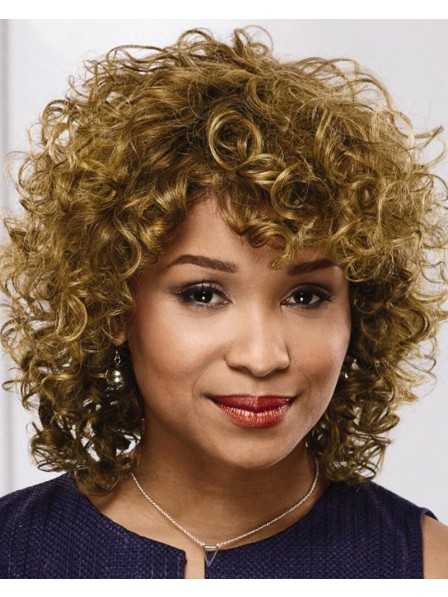 Fabulous Mid-Length Wig With Rich Airy Layers Of On-Trend Spiral Curls