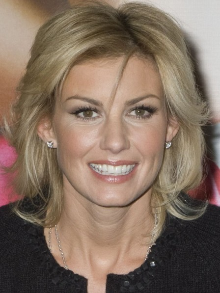 Faith Hill Simple Lace Front Human Hair Wig