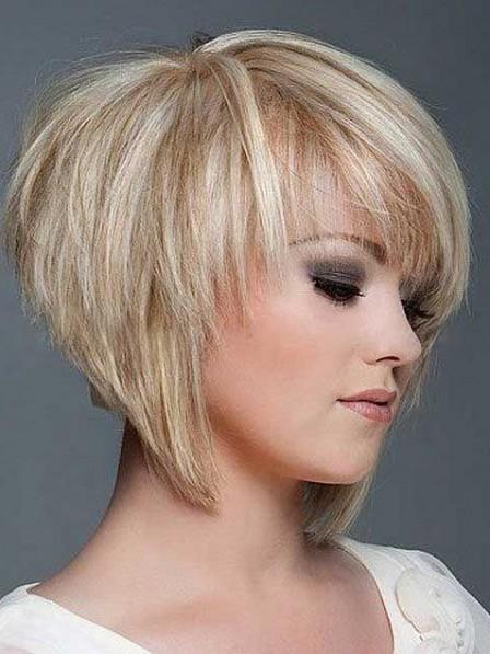 Fashion 2019 Full Lace Layered Short Straight 100% Human Hair Wigs