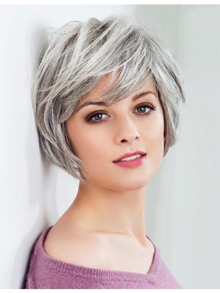 3a22d7cabb8d44 Fashion Chin Length Ladies Grey Hair Wig - Rewigs.co.uk