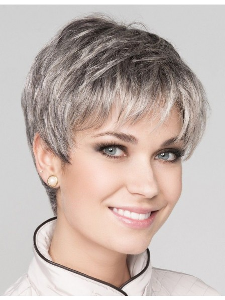 9f4933a0a85f67 Fashion Lace Front Synthetic Ladies Grey Hair Wig - Rewigs.co.uk