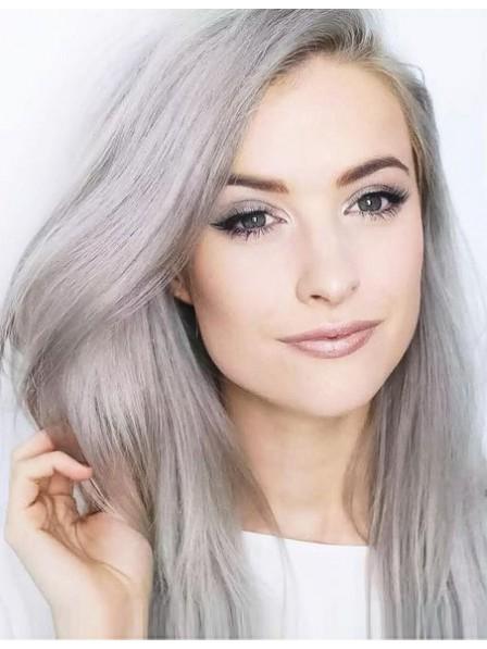 d4956ec1b180c4 Fashion Long Straight Grey Hair Wig For Young Women - Rewigs.co.uk