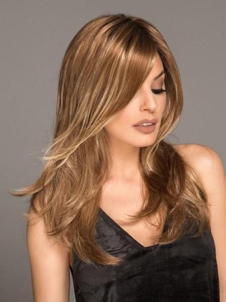 Fashion Long Straight Lace Front Mono Wig