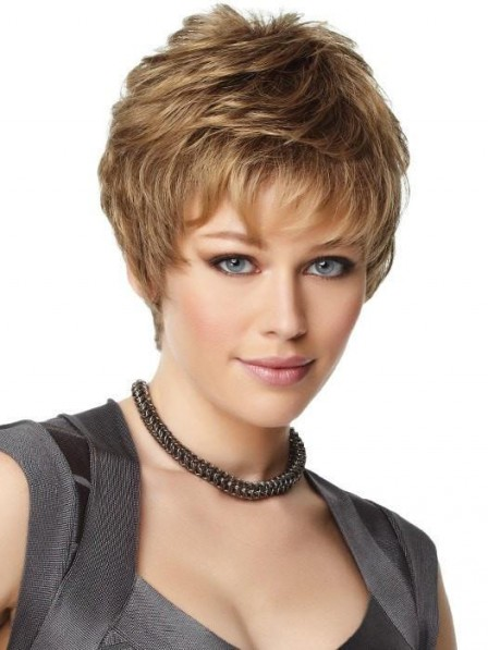Fashion Short Textured Synthetic Wig