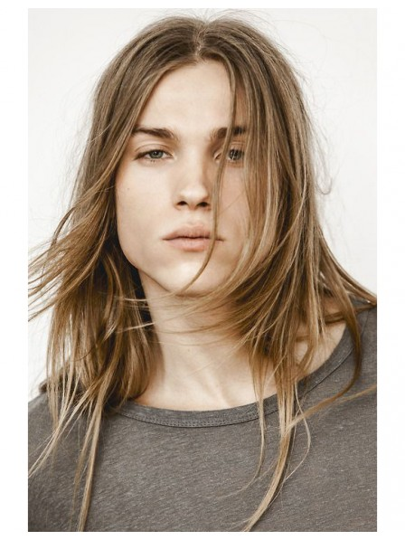 Fluttering Centre Parting Stright Lace Front Mono Top Wig For Men