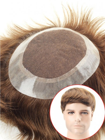 French Lace with Super Thin Skin Perimeter Hair Replacement System
