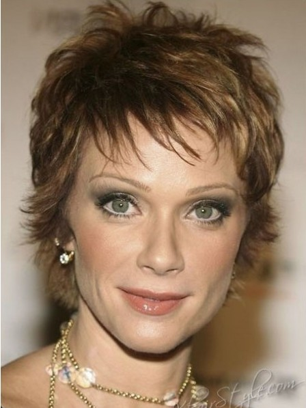Full Lace Pixie Cut Layered Synthetic Hair Wigs For Women