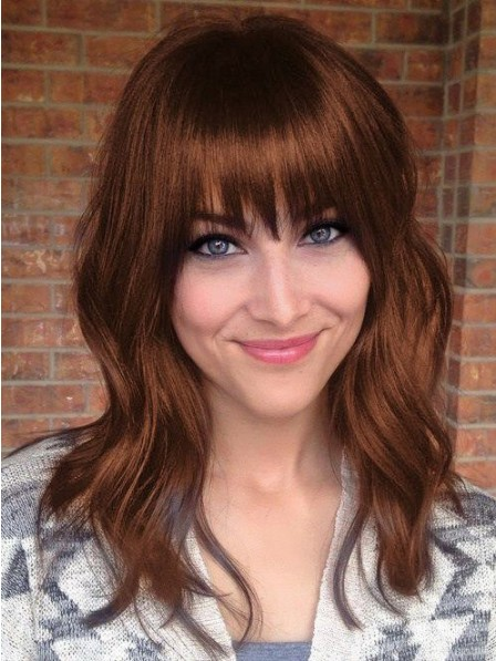 Full Lace Synthetic Celebrity Wigs With Bangs