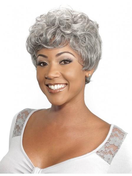 Generous 50 women's short capless hair wigs with bangs