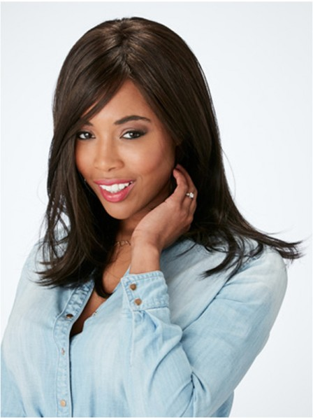Generous Straight lace front mono top human hair wigs