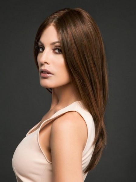 Gorgeous Brown Long Straight Lace Front Wig