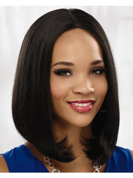 Gorgeous Lace Front Bob Wig With Sleek Chic Shoulder-Length Layers