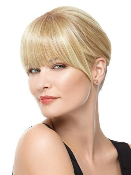 Heat-Friendly Synthetic Hair Blonde Fringe Clip-in Bang