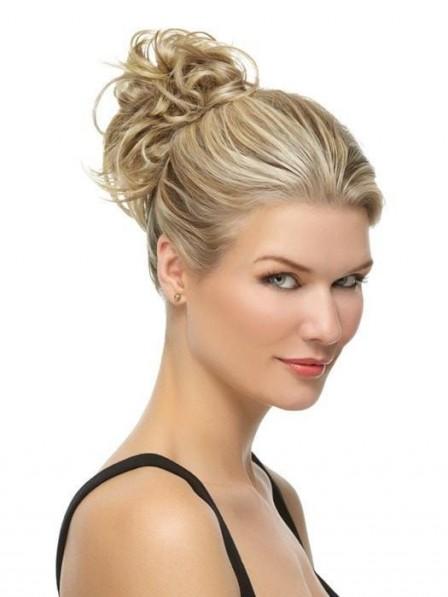 Heat-Friendly Synthetic Hair Blonde Highlight Wrap