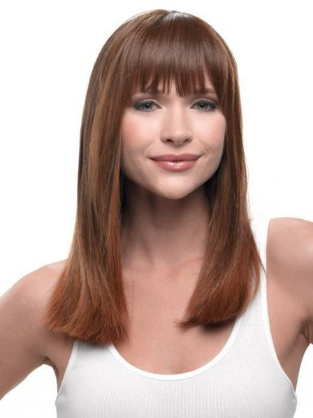 Heat-Friendly Synthetic Hair Clip in Bangs