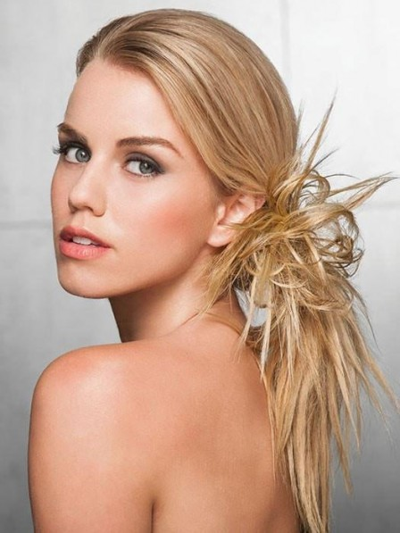 Heat-Friendly Synthetic Hair Spiky Clips In Hairpiece