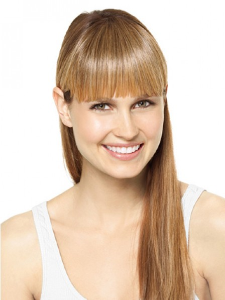 "6"" Straight Blonde 100% Human Hair Capless Bangs"