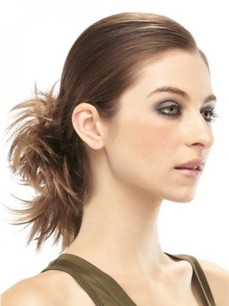 """4"""" Brown 100% Human Hair Pin Up Hair Wraps"""