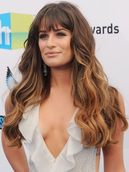High Quality Long Remy Human Hair Celebrity Wigs With Bangs
