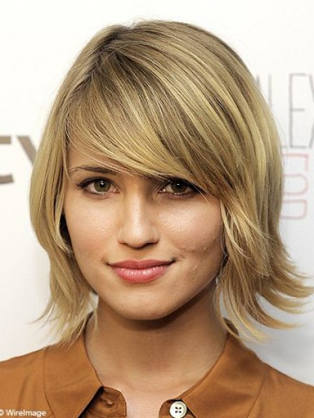 High Quality Remy Human Hair Celebrity Wigs With Bangs