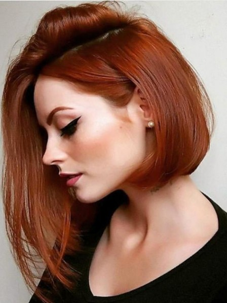 Hot Sale Capless Human Hair Celebrity Bob Wigs For Young Lady