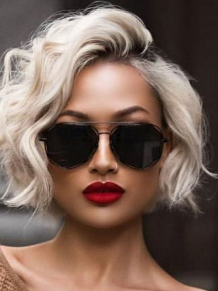 Hot Sale Full Lace Short Curly 100% Grey Wigs 2019