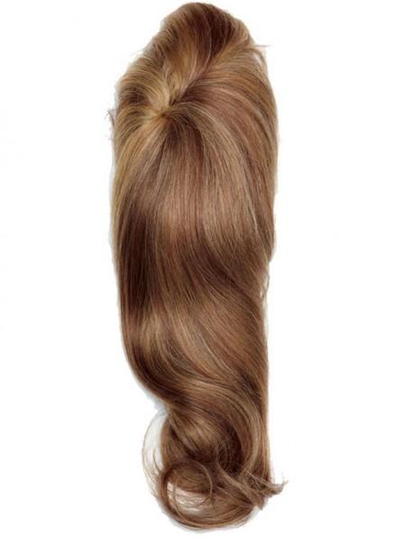 Human Hair Blonde 3/4 Cap Wig