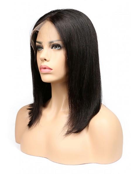 Human Hair Bob Wigs For Black Women Brazilian Remy Hair Lace Front Human Hair Wigs