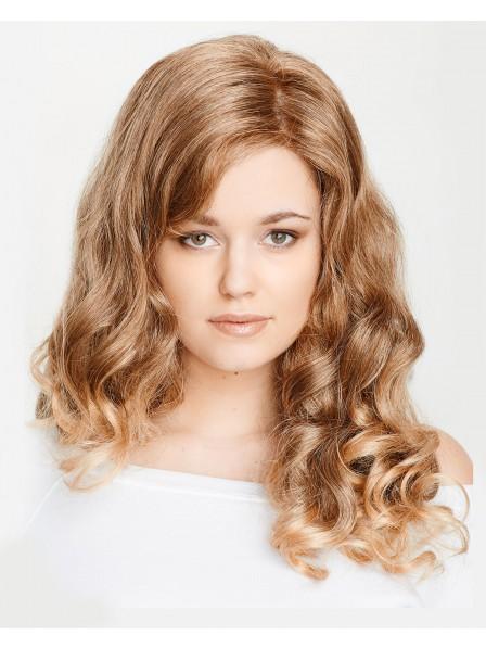 Human Hair Lace Front Mono Top Long Wavy Wig