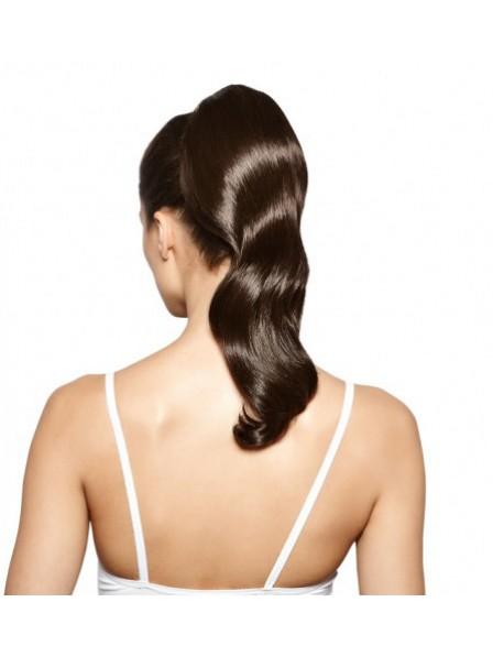 Human Hair Long Brown Wavy Ponytail