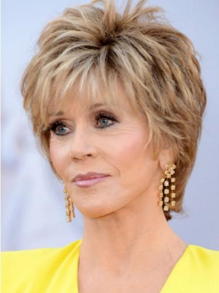 Jane Fonda Short Shaggy Hair Wig