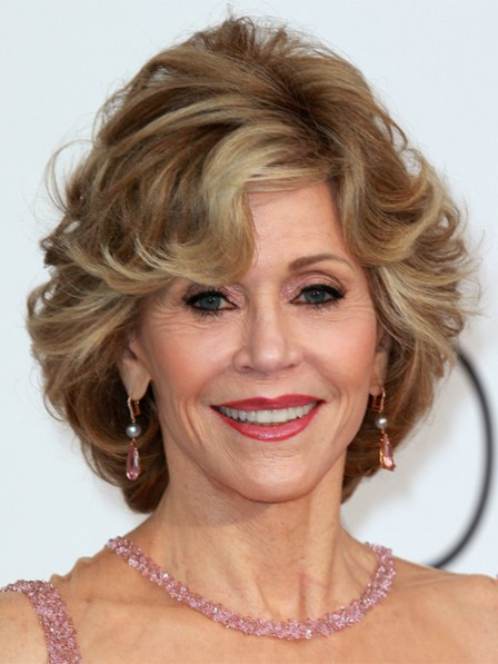 Jane Fonda Short Wavy Wig For Women