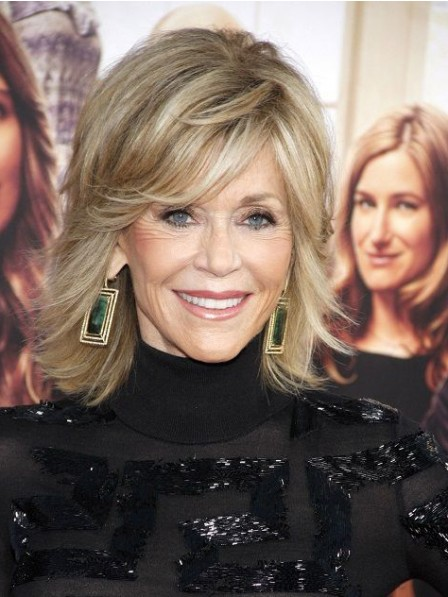 Jane Fonda Shoulder Length Lace Front Human Hair Wig
