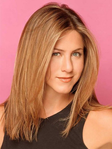 Jennifer Aniston Mid-length Straight Remy Hair Wig
