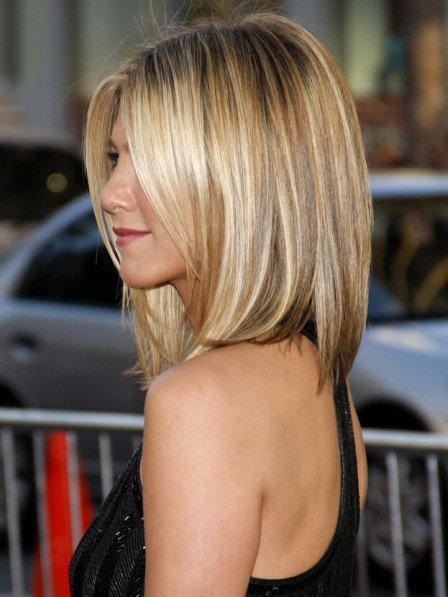 Jennifer Aniston's Medium Straight Bob Cut Hair Wig