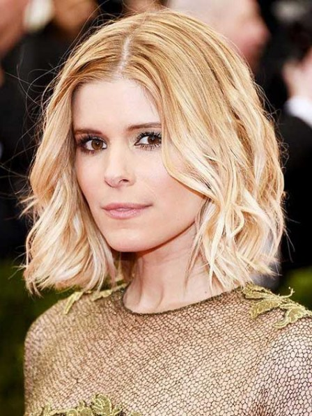 Kate Mara Medium Wavy Lace Front Middle Part Wig