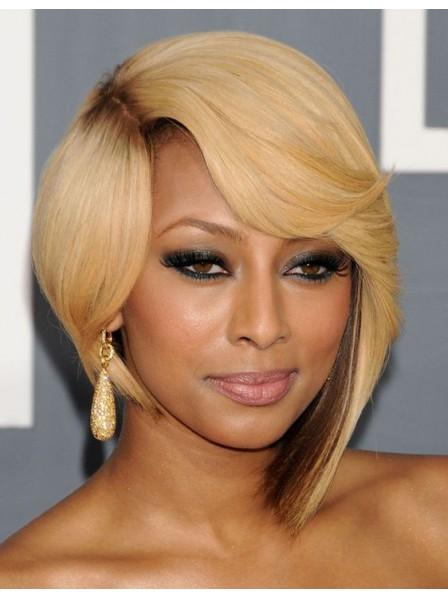 keri hilson hairstyles Irregular blonde hair wigs